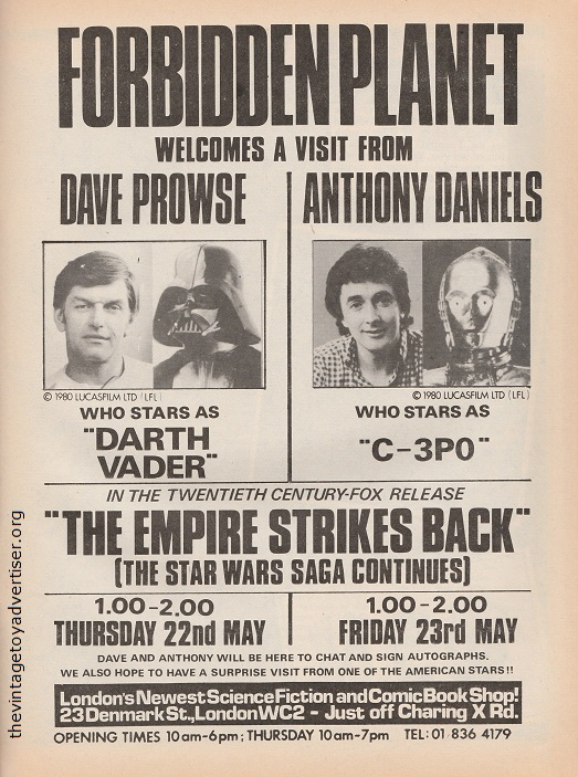 Vintage Star Wars adverts - the bizarre and the cool Forbid10