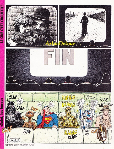 Meccano Star Wars adverts from French PIF Gadget comic magazine Pifgad13