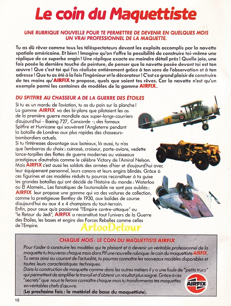Meccano Star Wars adverts from French PIF Gadget comic magazine Pifgad14