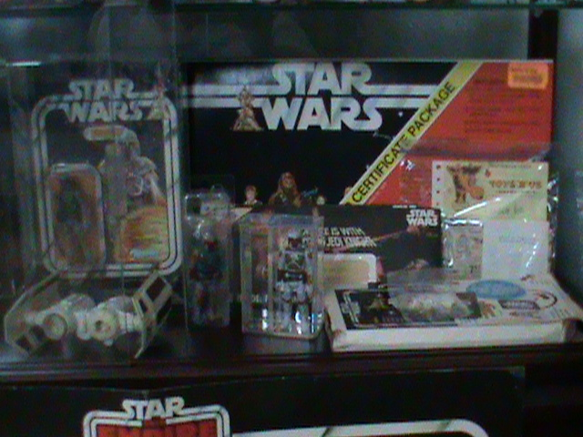 Current set up and still working...Counter Display, 12 backs, and other collectibles Toy_ro15
